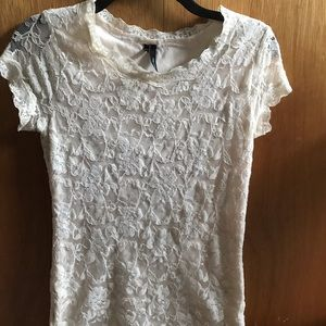 Lace ivory top